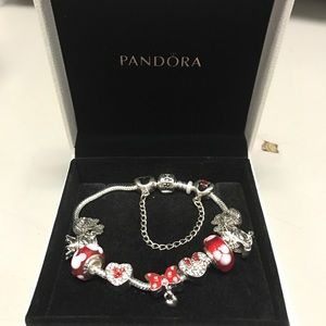 Authentic Pandora Minnie Mouse Charm bracelet